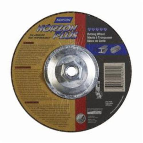 Norton® NorZon® Plus® 66252912625 DC7125HNZP All Purpose Cut-Off Wheel With Quick-Change Hub, 7 in Dia x 1/8 in THK, 24 Grit, Ceramic Alumina/Zirconia Alumina Abrasive