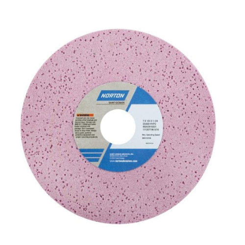 Norton® 66252916219 25A Straight Toolroom Wheel, 7 in Dia x 1/2 in THK, 1-1/4 in Center Hole, 46 Grit, Aluminum Oxide Abrasive