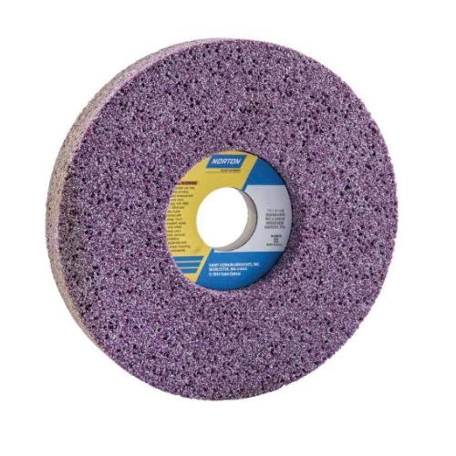 Norton® 66252916228 3SGR 1-Side Recessed Toolroom Wheel, 7 in Dia x 1 in THK, 1-1/4 in Center Hole, 46 Grit, Ceramic Alumina Abrasive