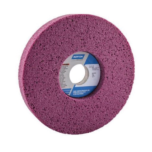 Norton® 66252916232 48A 1-Side Recessed Toolroom Wheel, 7 in Dia x 1 in THK, 1-1/4 in Center Hole, 46 Grit, Aluminum Oxide Abrasive
