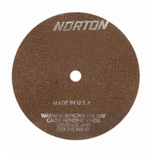 Norton® 66252938816 OBNA2 Toolroom Cut-Off Wheel, 7 in Dia x 0.06 in THK, 1/2 in Center Hole, 60 Grit, Aluminum Oxide Abrasive