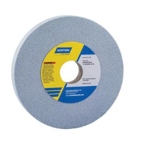 Norton® 66252939459 5SG Straight Toolroom Wheel, 7 in Dia x 1/4 in THK, 1-1/4 in Center Hole, 60 Grit, Ceramic Alumina/Friable Aluminum Oxide Abrasive