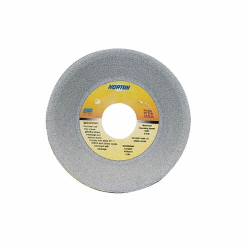 Norton® 66252939658 32A Straight Toolroom Wheel, 7 in Dia x 1/4 in THK, 1-1/4 in Center Hole, 80 Grit, Aluminum Oxide Abrasive