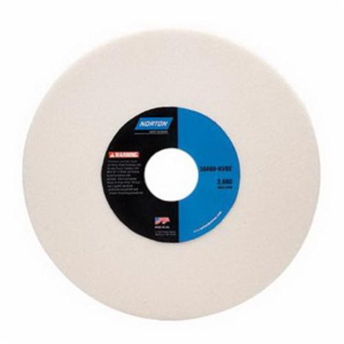 Norton® Gemini® 66252939830 38A Straight Toolroom Wheel, 7 in Dia x 1/4 in THK, 1-1/4 in Center Hole, 100 Grit, Aluminum Oxide Abrasive