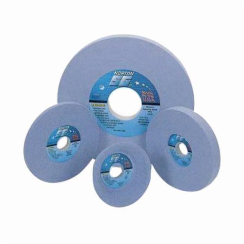 Norton® Quantum™ 66252940523 5SG Straight Toolroom Wheel, 7 in Dia x 1/2 in THK, 1-1/4 in Center Hole, 46 Grit, Ceramic Alumina Abrasive