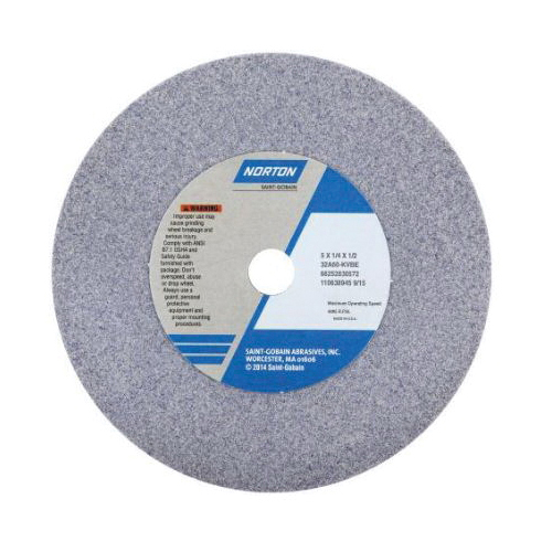 Norton® 66252940864 32A Straight Toolroom Wheel, 7 in Dia x 1/2 in THK, 1-1/4 in Center Hole, 46 Grit, Aluminum Oxide Abrasive