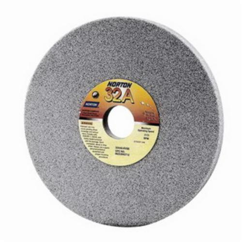 Norton® 66252940867 32A Straight Toolroom Wheel, 7 in Dia x 1/2 in THK, 1-1/4 in Center Hole, 46 Grit, Aluminum Oxide Abrasive