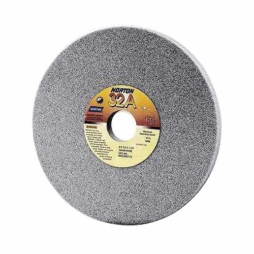 Norton® 66252942709 32A Straight Toolroom Wheel, 7 in Dia x 1 in THK, 1-1/4 in Center Hole, 60 Grit, Aluminum Oxide Abrasive