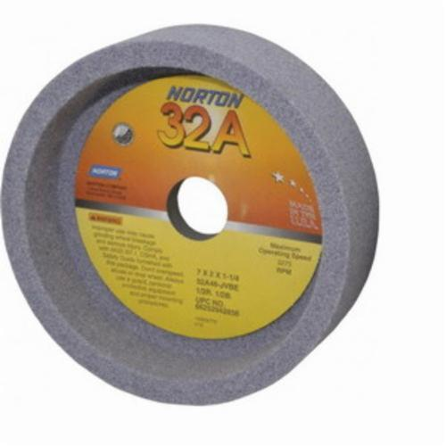 Norton® Gemini® 66252942856 32A Straight Toolroom Wheel, 7 in Dia x 2 in THK, 1-1/4 in Center Hole, 46 Grit, Aluminum Oxide Abrasive