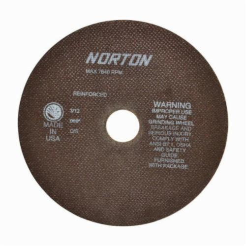 Norton® 66253042983 OBNA2 Toolroom Cut-Off Wheel, 8 in Dia x 0.06 in THK, 1-1/4 in Center Hole, 60 Grit, Aluminum Oxide Abrasive