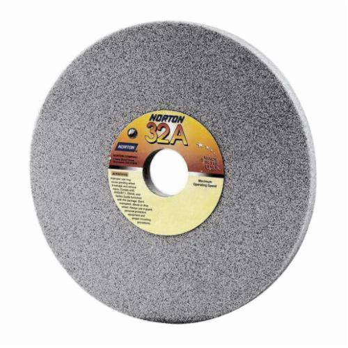 Norton® 66253160782 32A Straight Toolroom Wheel, 10 in Dia x 1 in THK, 3 in Center Hole, 80 Grit, Aluminum Oxide Abrasive