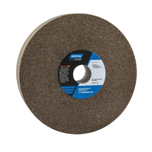 Norton® 66253044270 57A Straight Toolroom Wheel, 8 in Dia x 1 in THK, 1-1/4 in Center Hole, 60 Grit, Aluminum Oxide Abrasive