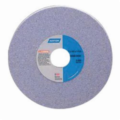 Norton® 66253049112 32A Plate Mounted Toolroom Wheel, 9 in Dia x 2 in THK, 4-15/16 in Center Hole, 70 Grit, Aluminum Oxide Abrasive