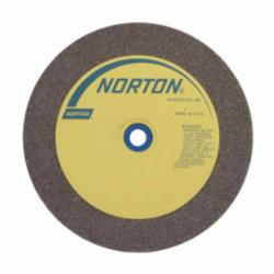Norton® 66253116273 57A Straight Bench and Pedestal Grinding Wheel, 10 in Dia x 1 in THK, 1-1/4 in Center Hole, 60 Grit, Aluminum Oxide Abrasive