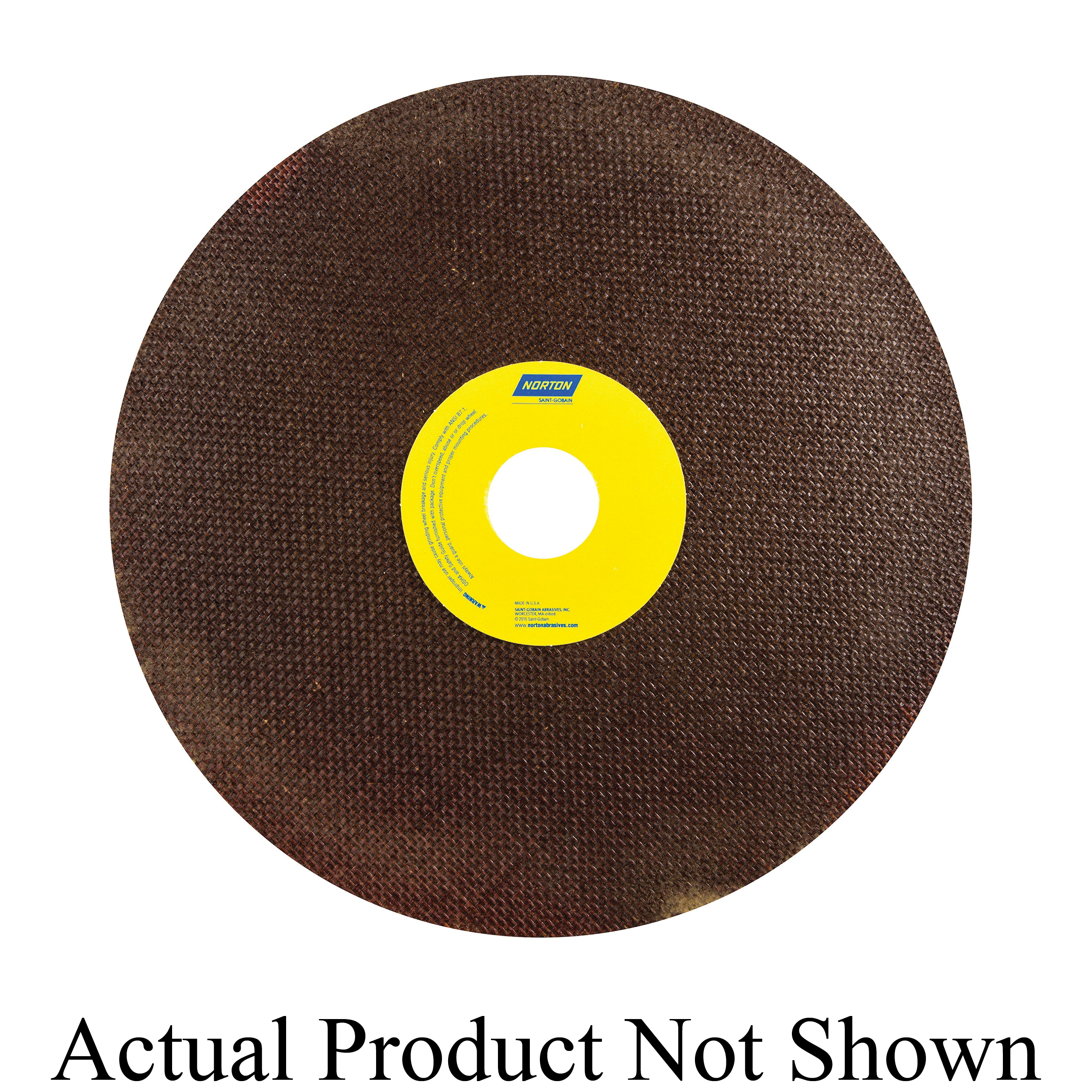 Norton® 66253149186 OBNA2 Toolroom Cut-Off Wheel, 10 in Dia x 0.06 in THK, 1-1/4 in Center Hole, 60 Grit, Aluminum Oxide Abrasive