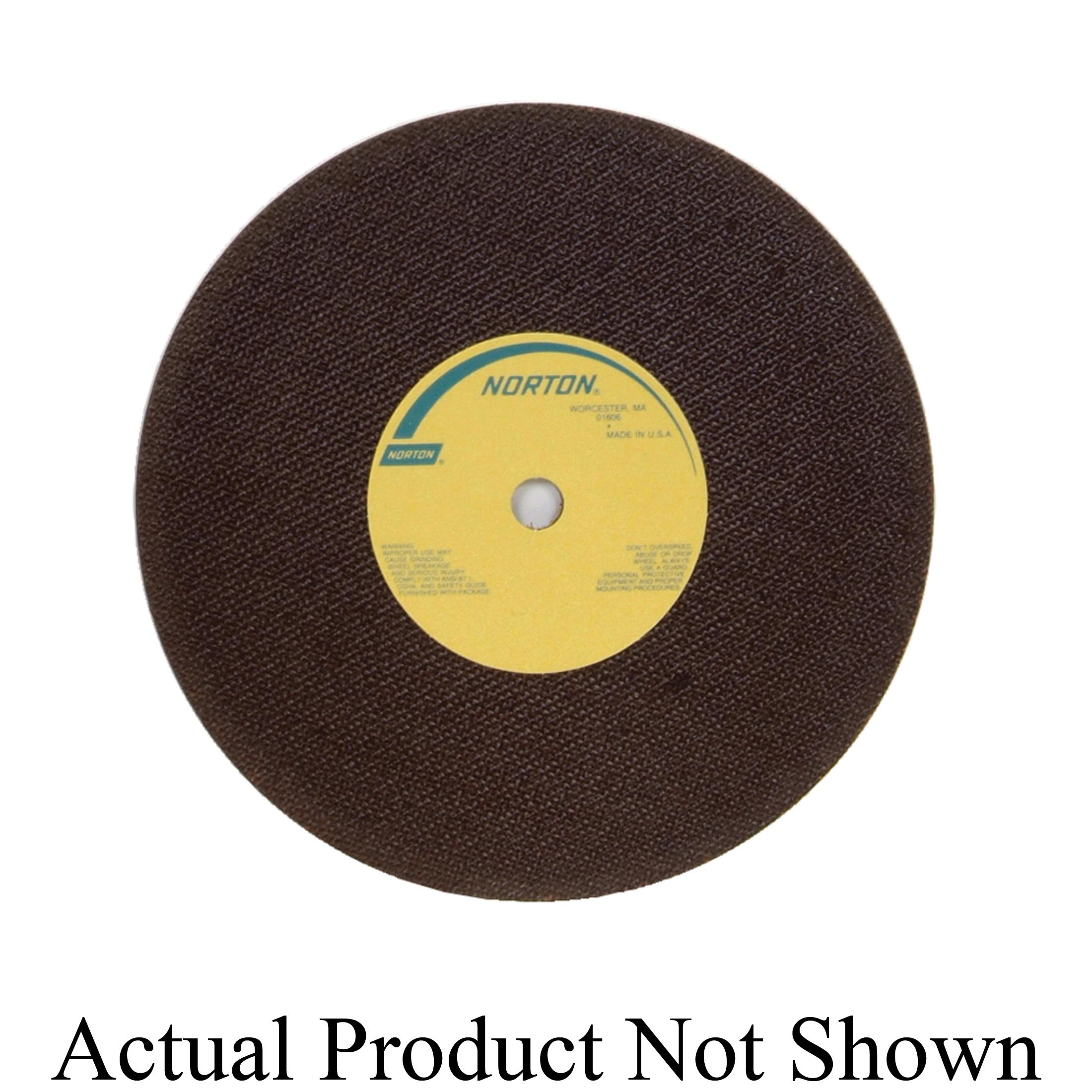 Norton® 66253149317 OBNA2 Toolroom Cut-Off Wheel, 10 in Dia x 0.06 in THK, 5/8 in Center Hole, 60 Grit, Aluminum Oxide Abrasive