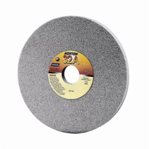 Norton® 66253160749 32A Straight Toolroom Wheel, 10 in Dia x 1 in THK, 2 in Center Hole, 46 Grit, Aluminum Oxide Abrasive