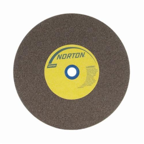 Norton® Gemini® 66253161395 57A Alundum® Straight Bench and Pedestal Grinding Wheel, 10 in Dia x 1-1/2 in THK, 1-1/4 in Center Hole, 60/80 Grit, Aluminum Oxide Abrasive