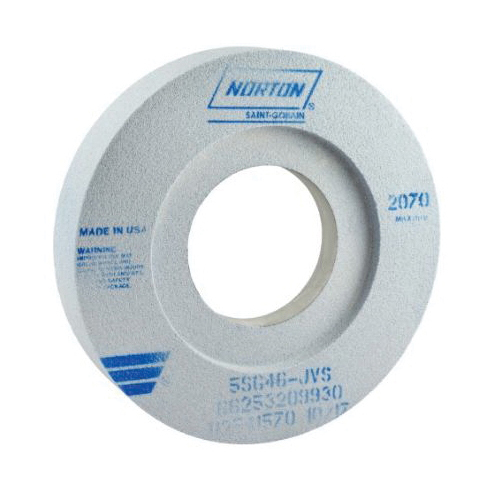 Norton® 66253209930 5SG 2-Side Recessed Toolroom Wheel, 12 in Dia x 2 in THK, 5 in Center Hole, 46 Grit, Ceramic Alumina Abrasive