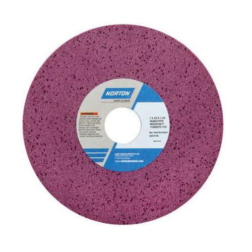 Norton® 66253220891 48A Straight Toolroom Wheel, 12 in Dia x 1 in THK, 3 in Center Hole, 60 Grit, Aluminum Oxide Abrasive