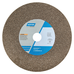 Norton® 66253220952 57A Type 01 Bench and Pedestal Grinding Wheel, 12 in Dia x 2 in THK, 1-1/2 in Center Hole, 36 Grit, Aluminum Oxide Abrasive