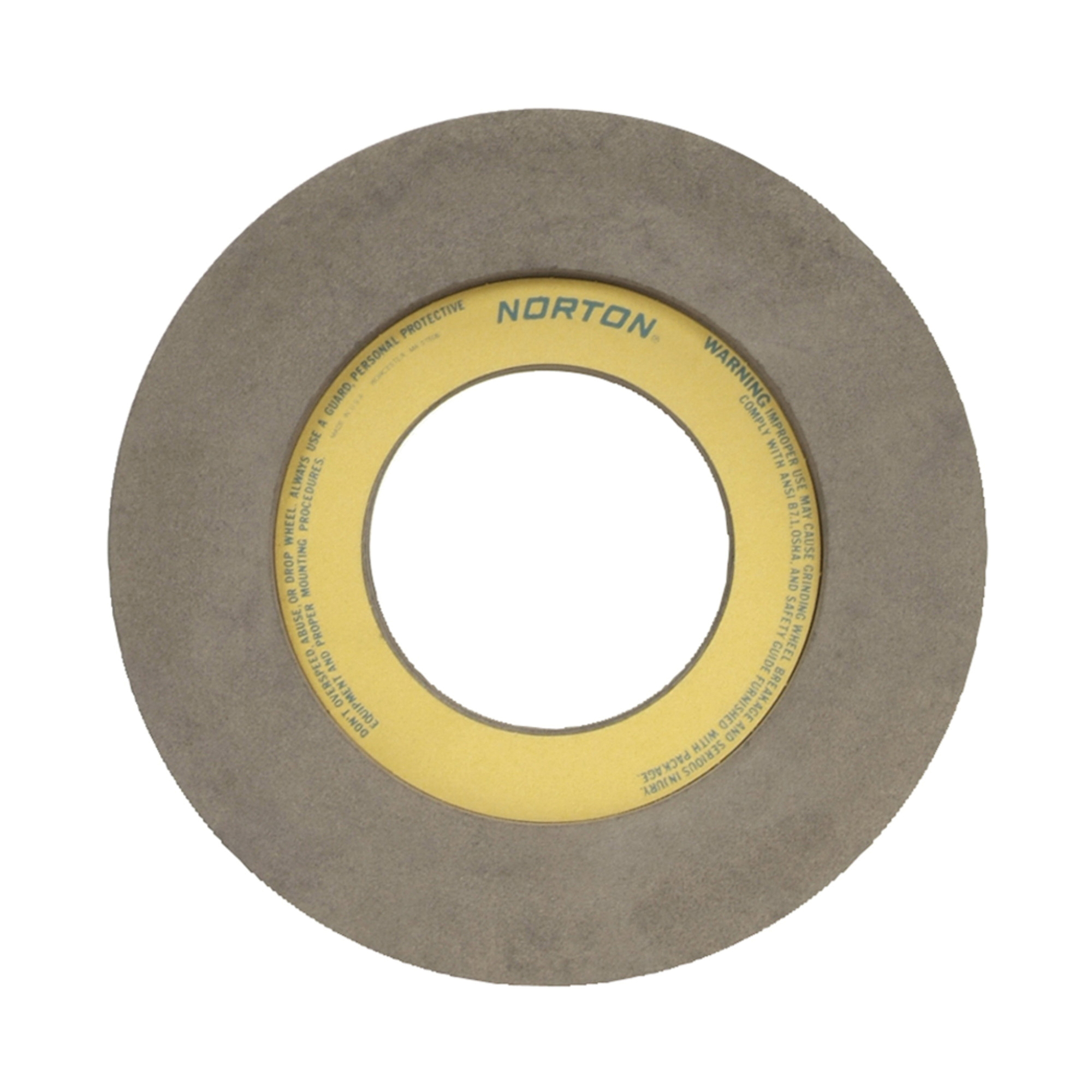 Norton® 66253222847 57A Centerless Feed Wheel, 12 in Dia x 6 in W, 5 in Hole, Type 7, 80 Grit