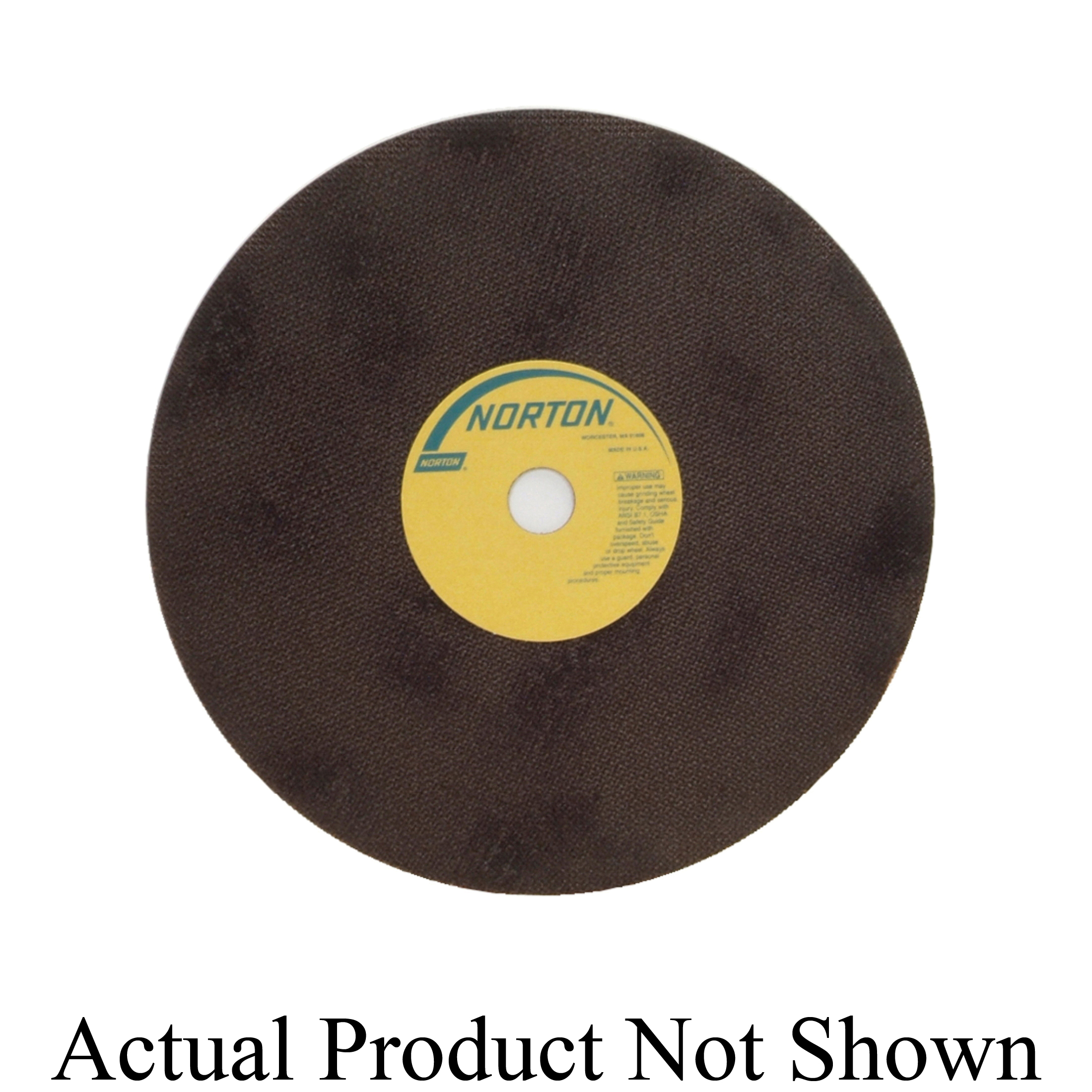 Norton® 66253261811 OBNA2 Toolroom Cut-Off Wheel, 12 in Dia x 0.06 in THK, 1 in Center Hole, 60 Grit, Aluminum Oxide Abrasive