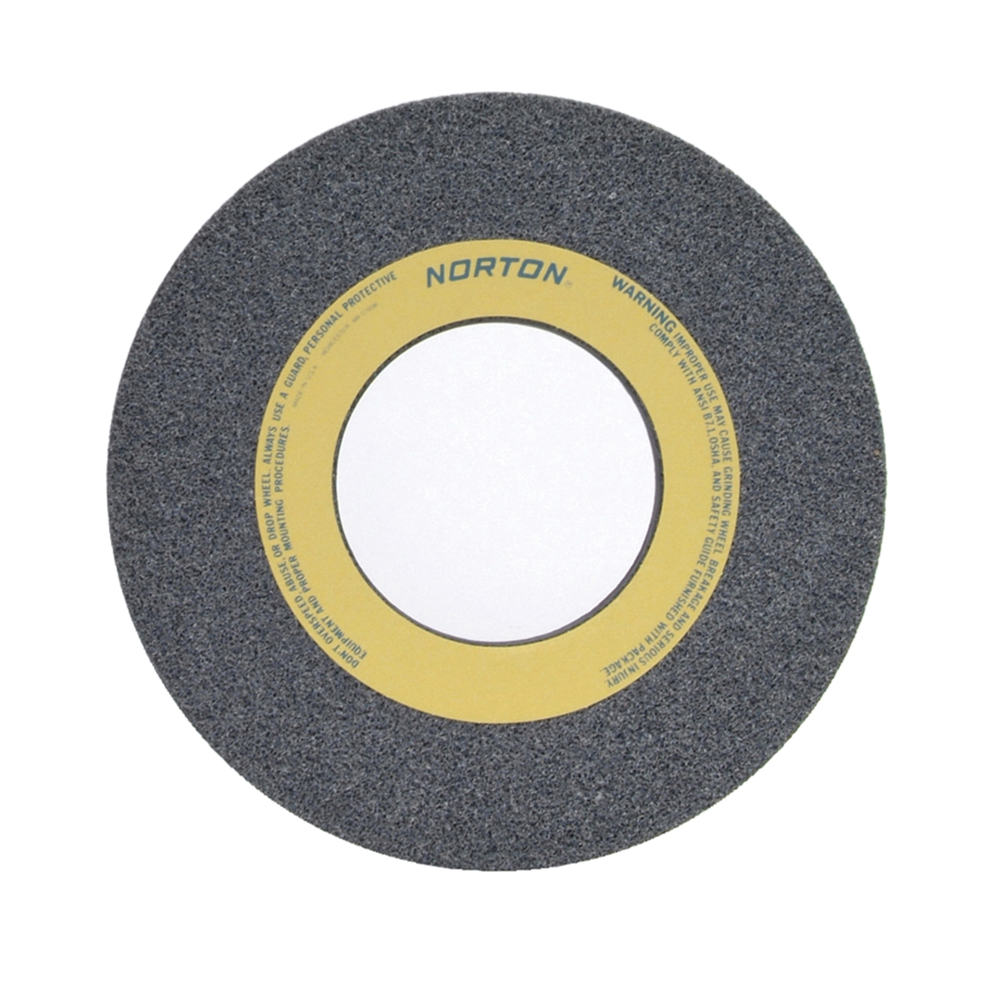 Norton® 66253262107 32A Straight Toolroom Wheel, 12 in Dia x 1/2 in THK, 5 in Center Hole, 60 Grit, Aluminum Oxide Abrasive