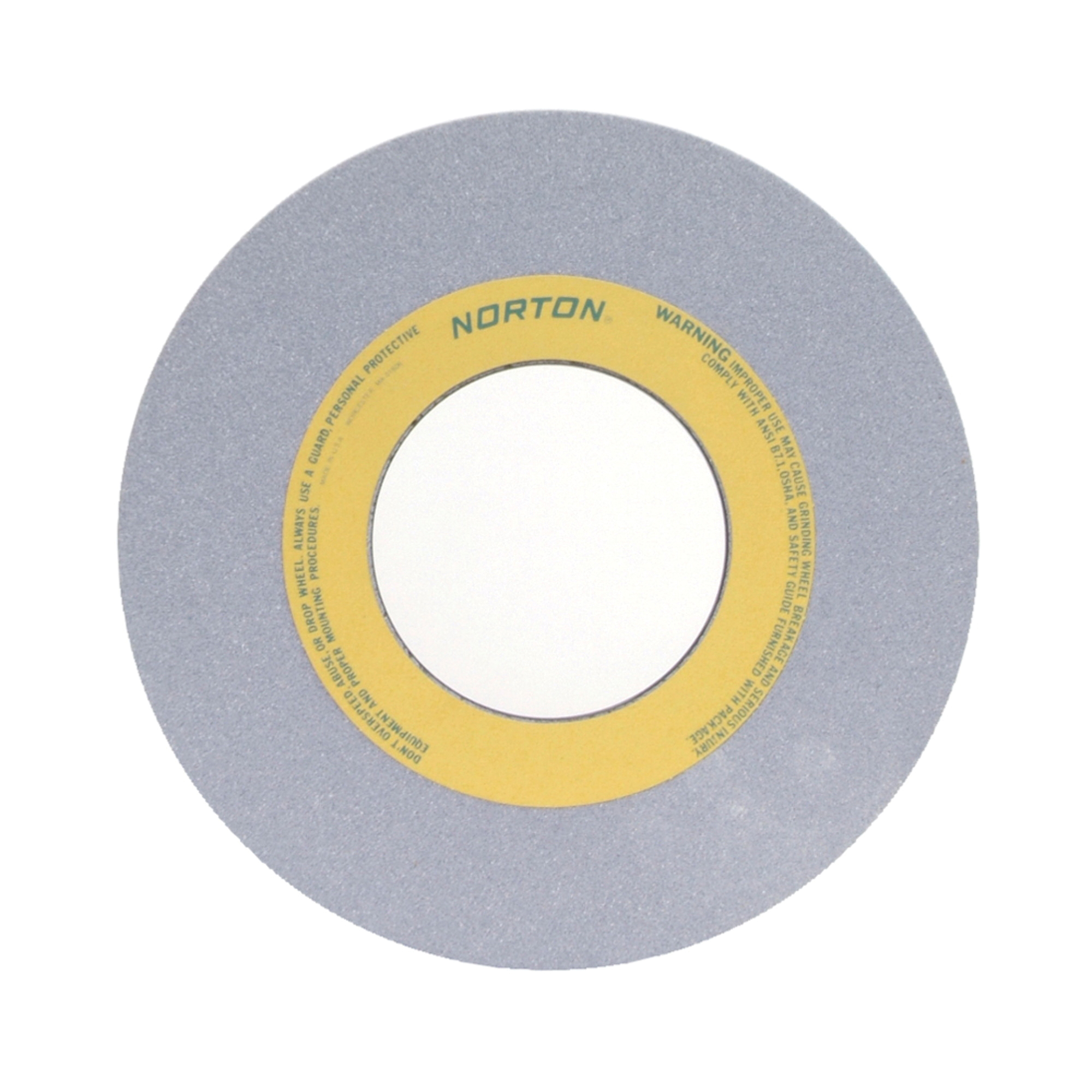 Norton® 66253262111 32A Straight Toolroom Wheel, 12 in Dia x 1/2 in THK, 5 in Center Hole, 80 Grit, Aluminum Oxide Abrasive