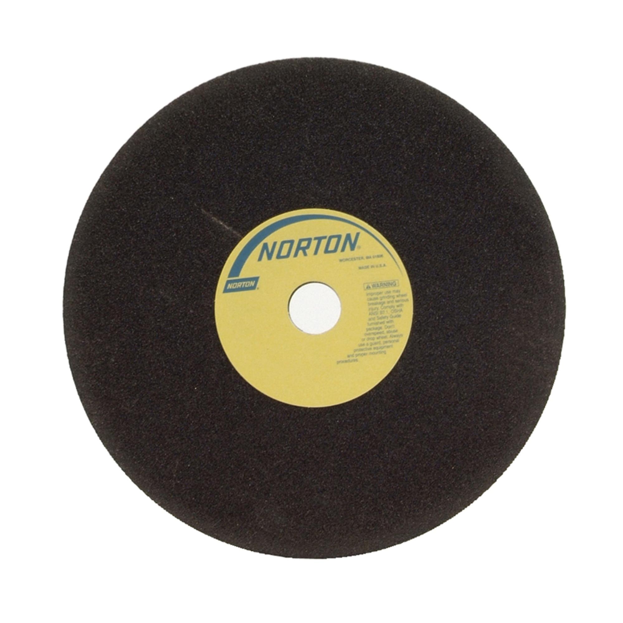 Norton® NorZon® 66253262307 NZ Straight Sawgumming Wheel, 12 in Dia x 3/4 in THK, 1-1/4 in Center Hole, 36 Grit, Zirconia Alumina Abrasive