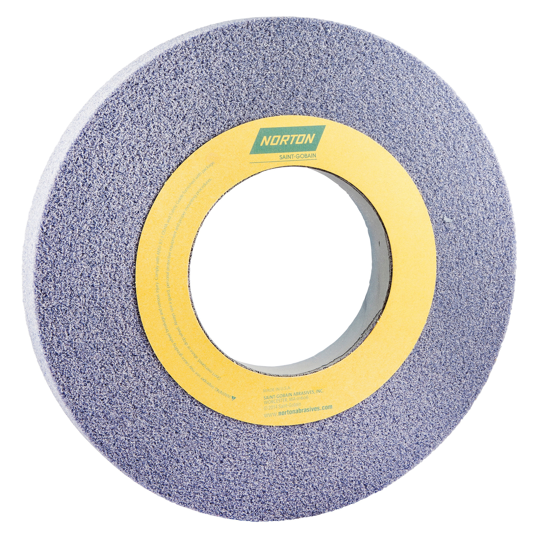 Norton® 66253262563 32A Straight Toolroom Wheel, 12 in Dia x 1 in THK, 5 in Center Hole, 46 Grit, Aluminum Oxide Abrasive