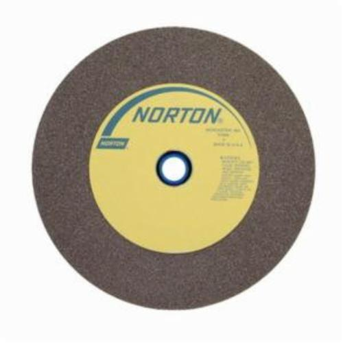 Norton® Gemini® 66253263053 57A Alundum® Straight Bench and Pedestal Grinding Wheel, 12 in Dia x 1-1/2 in THK, 1-1/2 in Center Hole, 60/80 Grit, Aluminum Oxide Abrasive