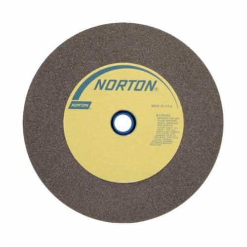 Norton® Gemini® 66253263054 57A Alundum® Straight Bench and Pedestal Grinding Wheel, 12 in Dia x 2 in THK, 1-1/2 in Center Hole, 24 Grit, Aluminum Oxide Abrasive