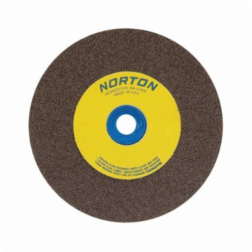 Norton® Gemini® Crystolon® 66253263360 Straight Bench and Pedestal Grinding Wheel, 12 in Dia x 2 in THK, 1-1/4 in Center Hole, 80 Grit, Silicon Carbide Abrasive