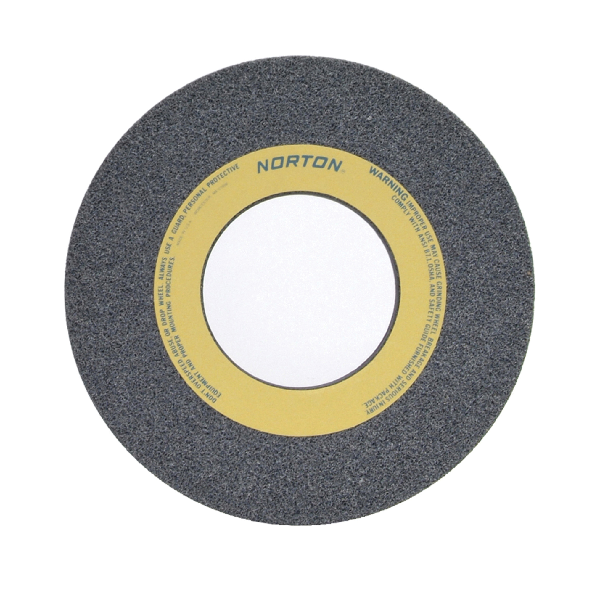 Norton® 66253263128 32A Straight Toolroom Wheel, 12 in Dia x 1-1/2 in THK, 5 in Center Hole, 46 Grit, Aluminum Oxide Abrasive