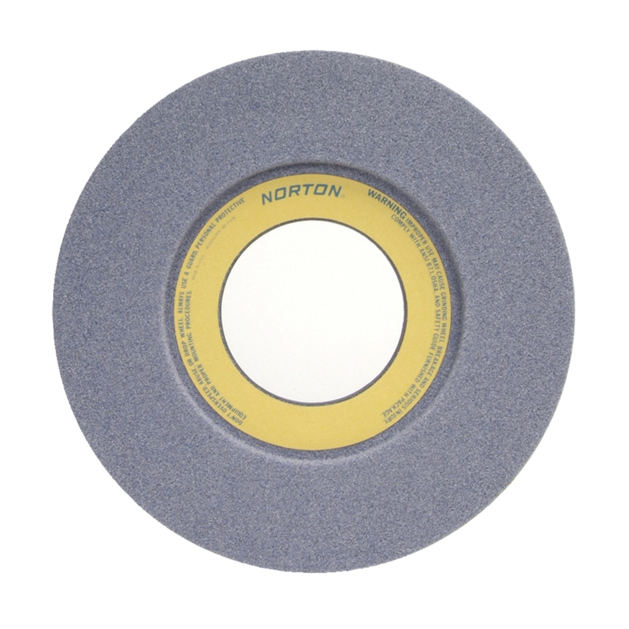 Norton® 66253263166 32A 1-Side Recessed Toolroom Wheel, 12 in Dia x 1-1/2 in THK, 5 in Center Hole, 46 Grit, Aluminum Oxide Abrasive