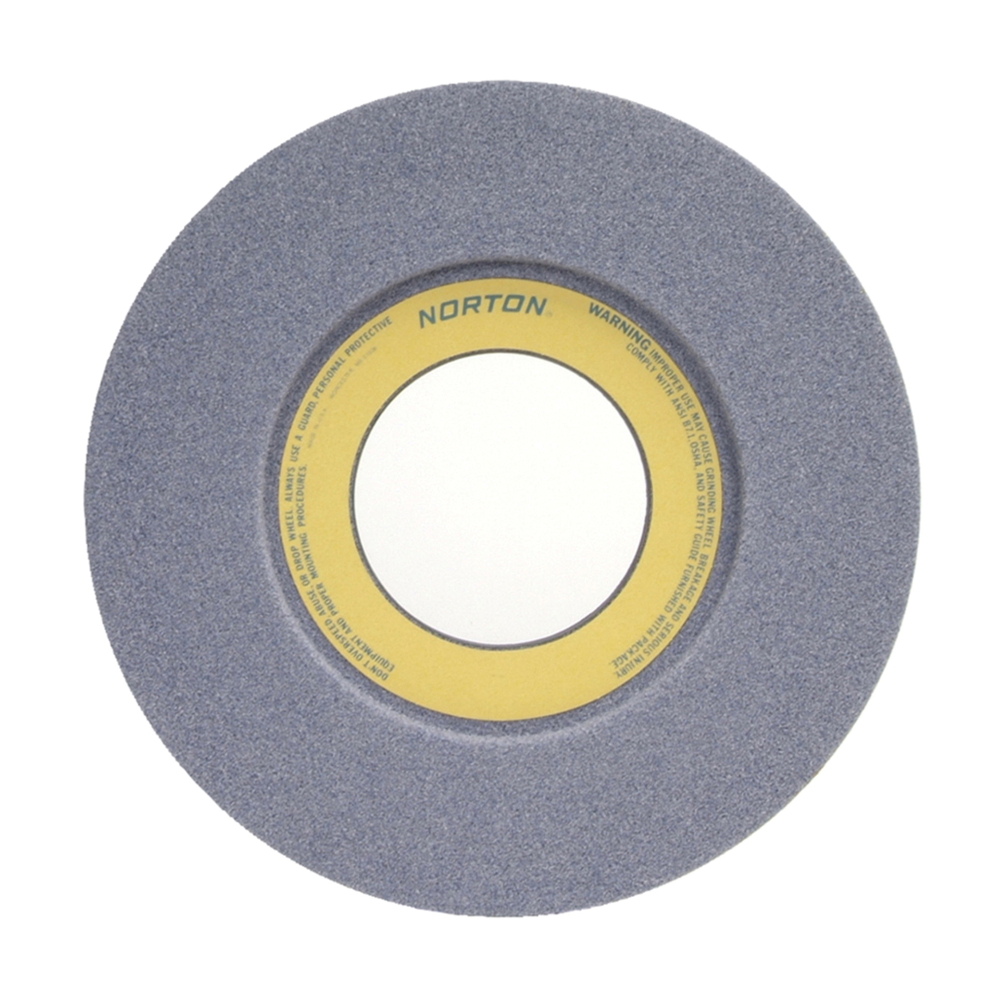 Norton® 66253263169 32A 1-Side Recessed Toolroom Wheel, 12 in Dia x 1-1/2 in THK, 5 in Center Hole, 46 Grit, Aluminum Oxide Abrasive