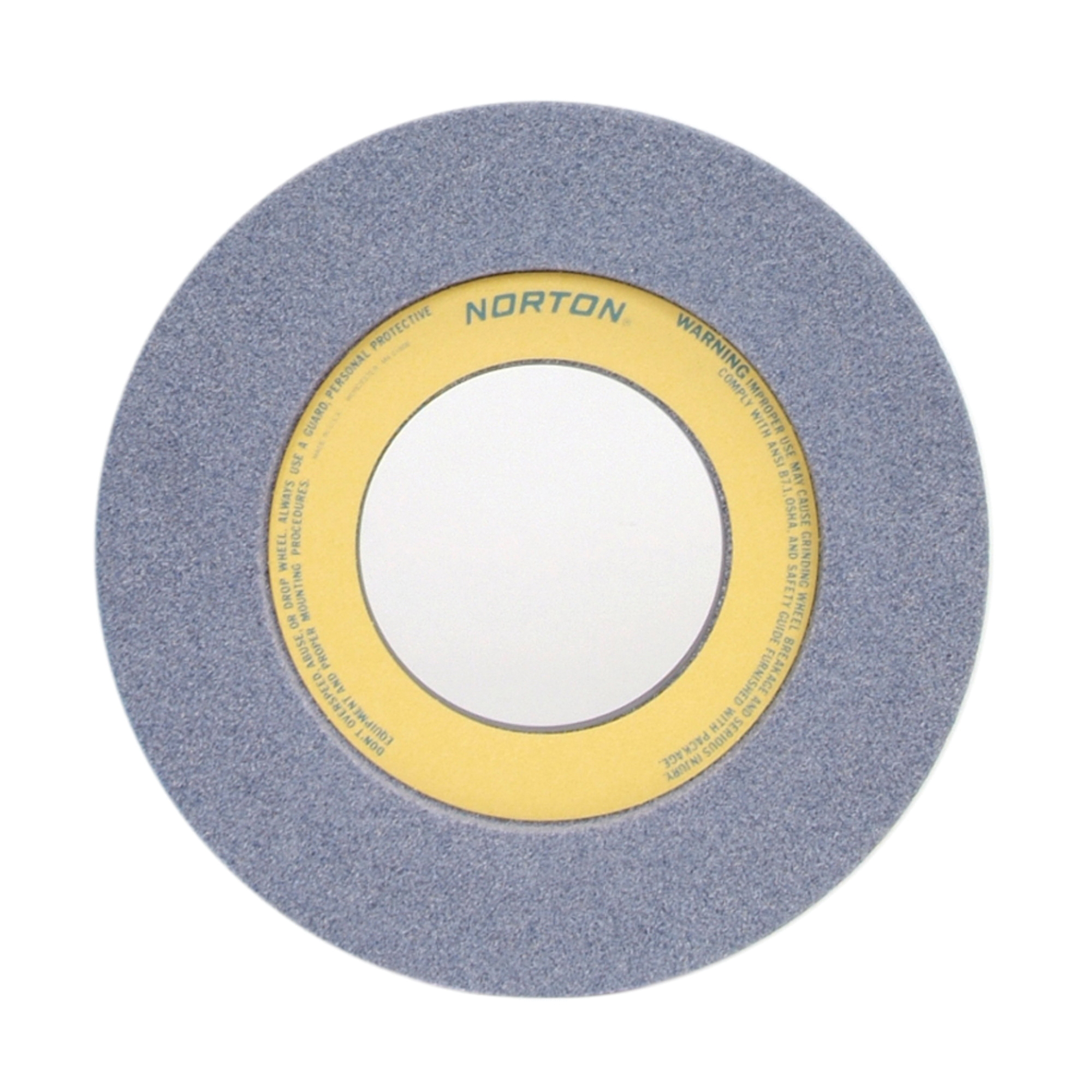 Norton® 66253263170 32A 1-Side Recessed Toolroom Wheel, 12 in Dia x 1-1/2 in THK, 5 in Center Hole, 46 Grit, Aluminum Oxide Abrasive