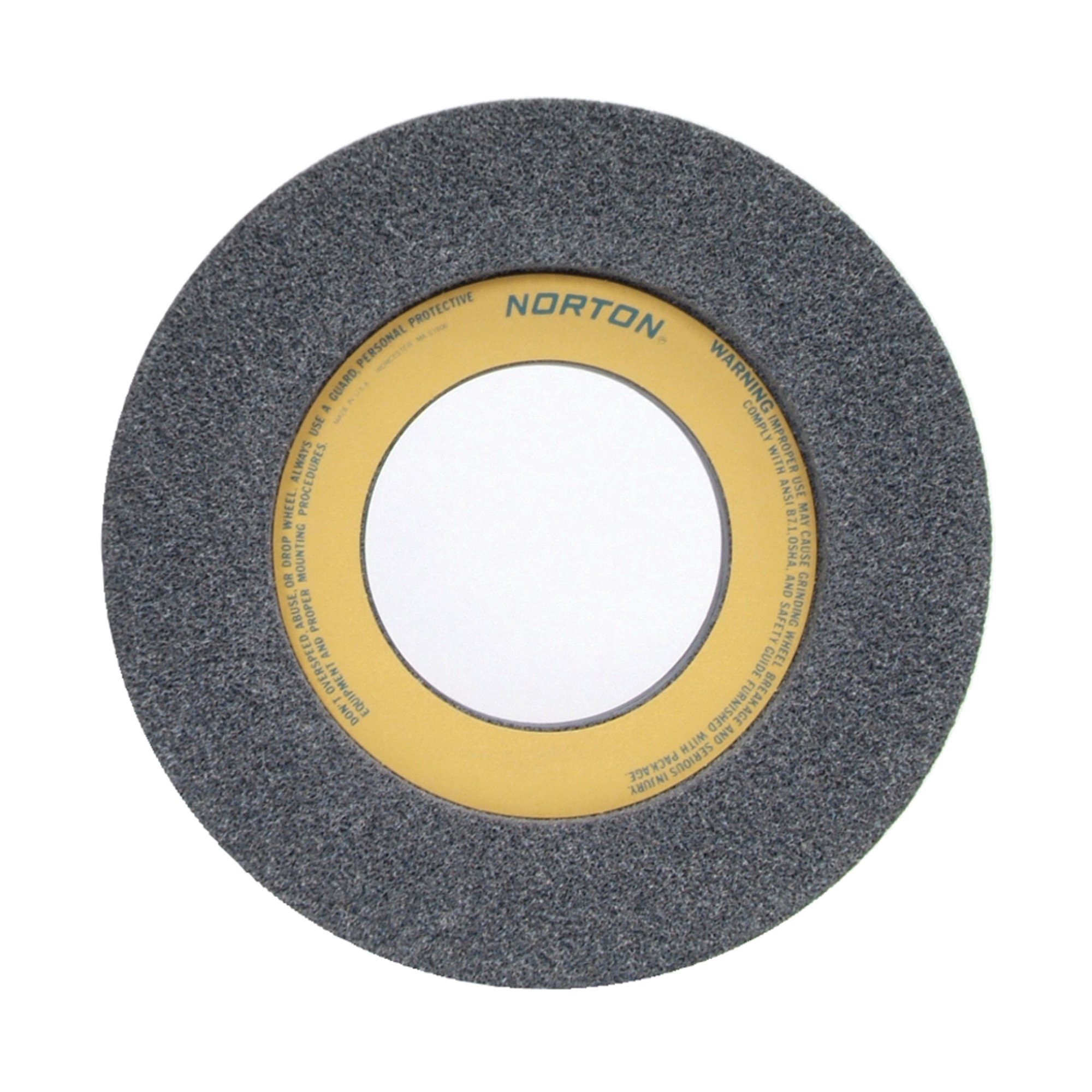 Norton® 66253263180 32A 1-Side Recessed Toolroom Wheel, 12 in Dia x 1-1/2 in THK, 5 in Center Hole, 46 Grit, Aluminum Oxide Abrasive
