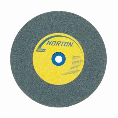 Norton® Gemini® Crystolon® 66253263359 Straight Bench and Pedestal Grinding Wheel, 12 in Dia x 2 in THK, 1-1/4 in Center Hole, 60 Grit, Silicon Carbide Abrasive