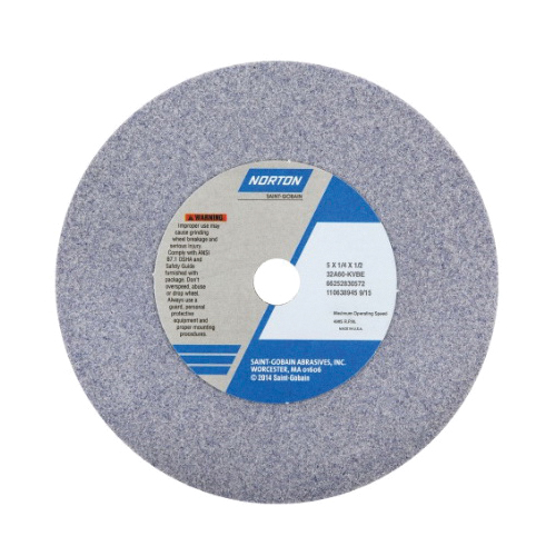 Norton® 66253263403 32A Straight Toolroom Wheel, 12 in Dia x 2 in THK, 5 in Center Hole, 46 Grit, Aluminum Oxide Abrasive