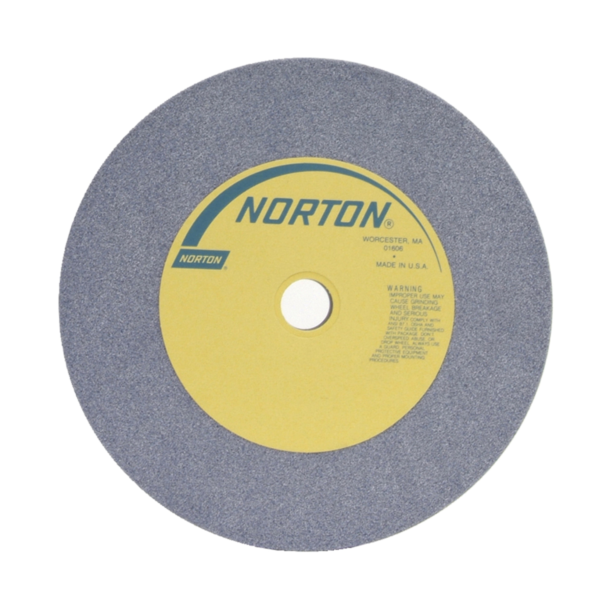 Norton® 66253263461 32A Straight Toolroom Wheel, 12 in Dia x 2 in THK, 1-1/4 in Center Hole, 46 Grit, Aluminum Oxide Abrasive