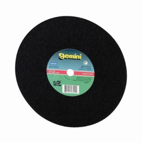 Norton® Gemini® 66253306611 57A Long Life Cut-Off Wheel, 14 in Dia x 1/8 in THK, 1 in Center Hole, 24 Grit, Aluminum Oxide Abrasive