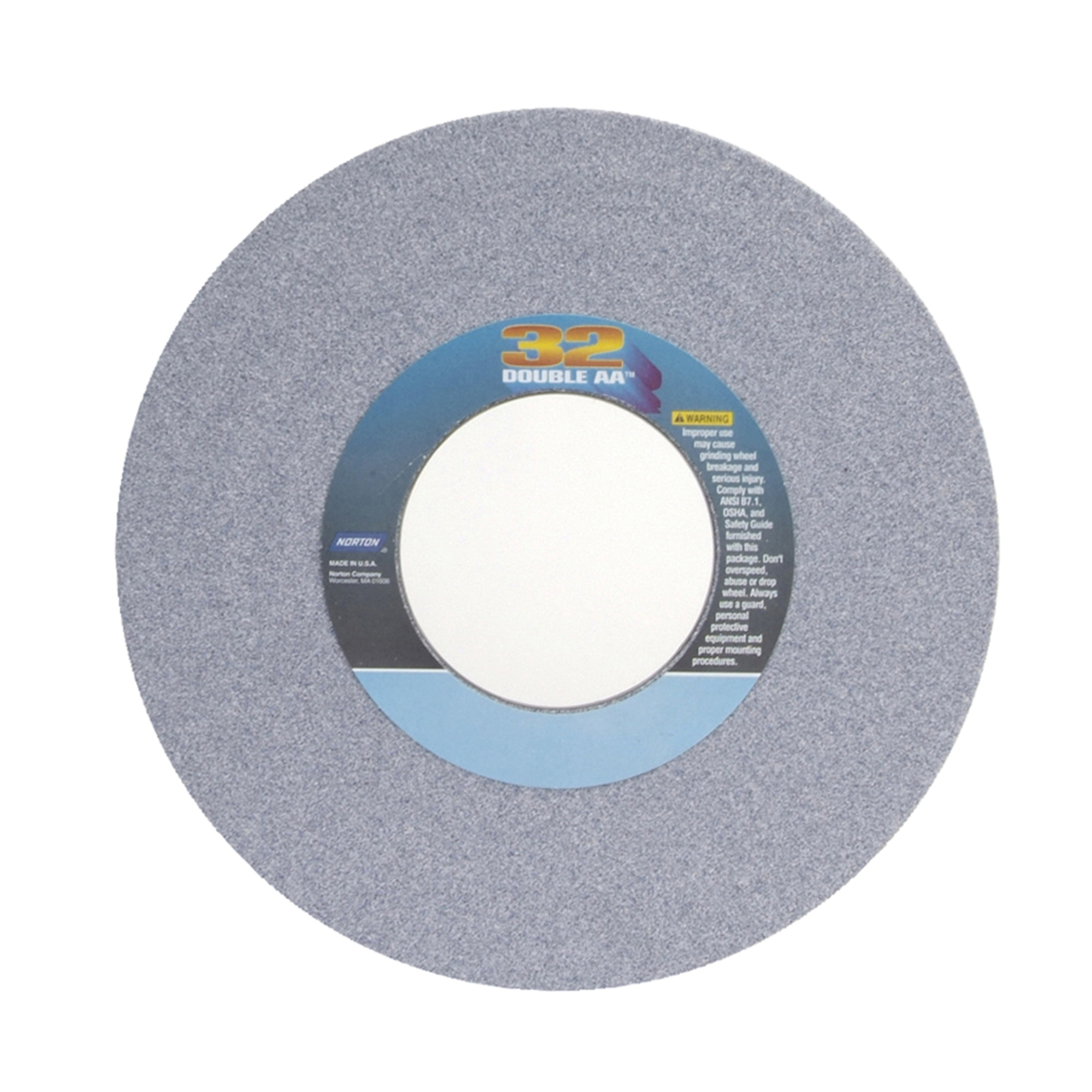 Norton® 66253306789 32AA Straight Toolroom Wheel, 14 in Dia x 1 in THK, 5 in Center Hole, 60 Grit, Aluminum Oxide Abrasive