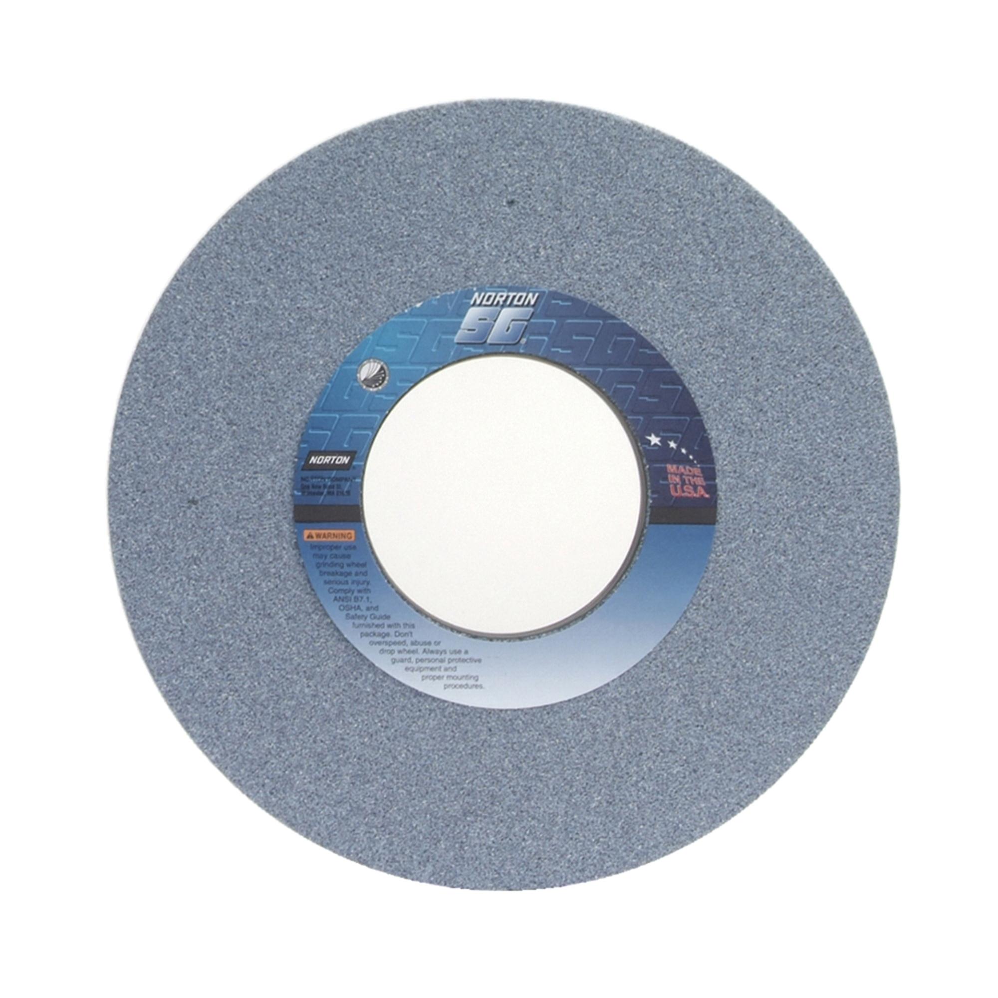 Norton® 66253307025 3SGP Straight Toolroom Wheel, 14 in Dia x 1-1/2 in THK, 5 in Center Hole, 46 Grit, Ceramic Alumina/Friable Aluminum Oxide Abrasive