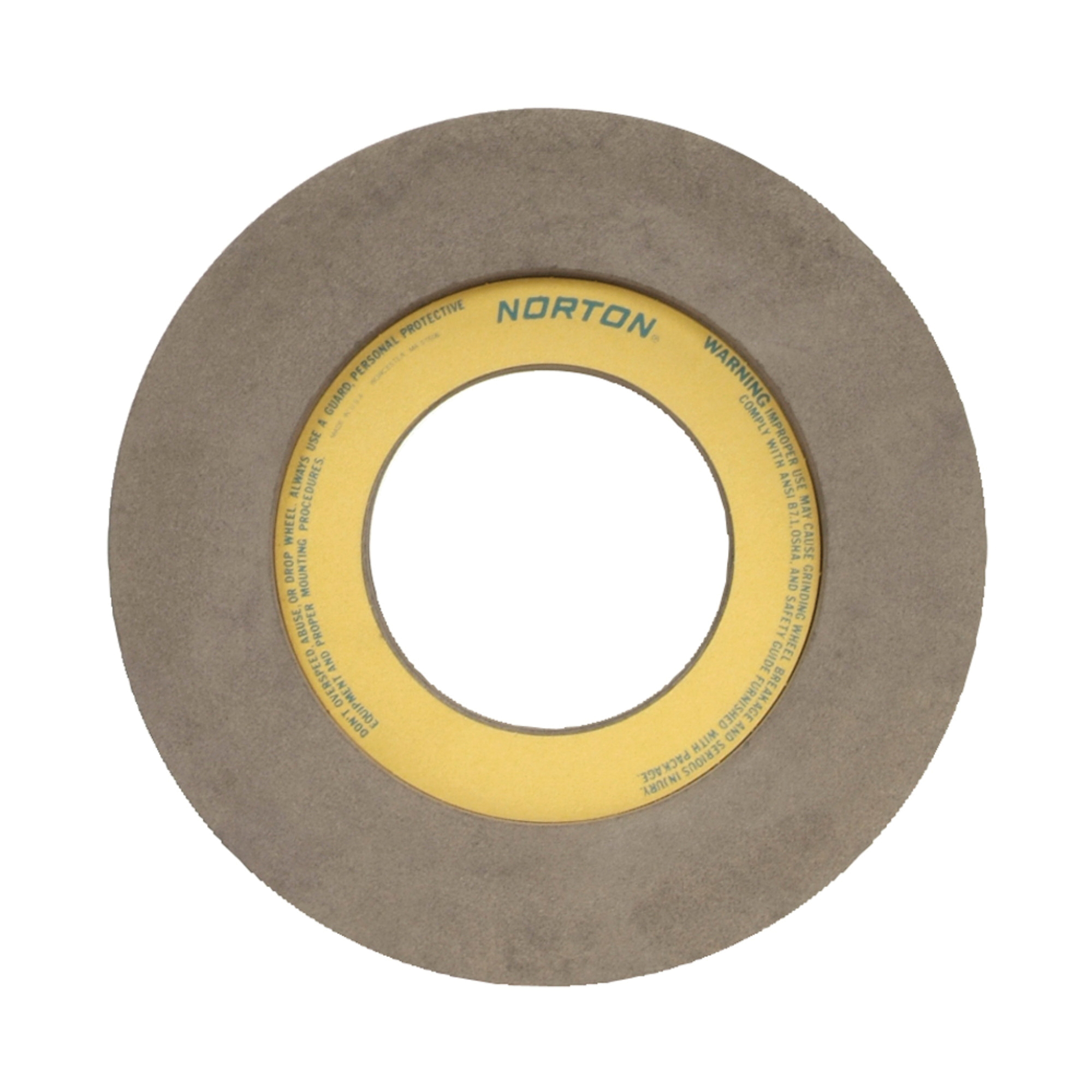 Norton® 66253322196 57A Centerless Feed Wheel, 14 in Dia x 20 in W, 6 in Hole, Type 7, 80 Grit