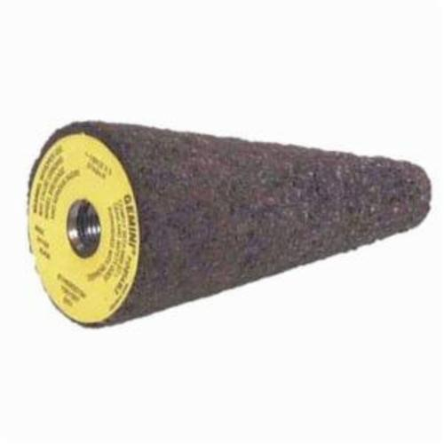 Norton® Metal 24™ 66253349845 Portable Grinding Cone With NCRH Steel Bushing, 2 in Dia Max, 3 in THK Head, 24 Grit, Extra Coarse Grade, Aluminum Oxide Abrasive