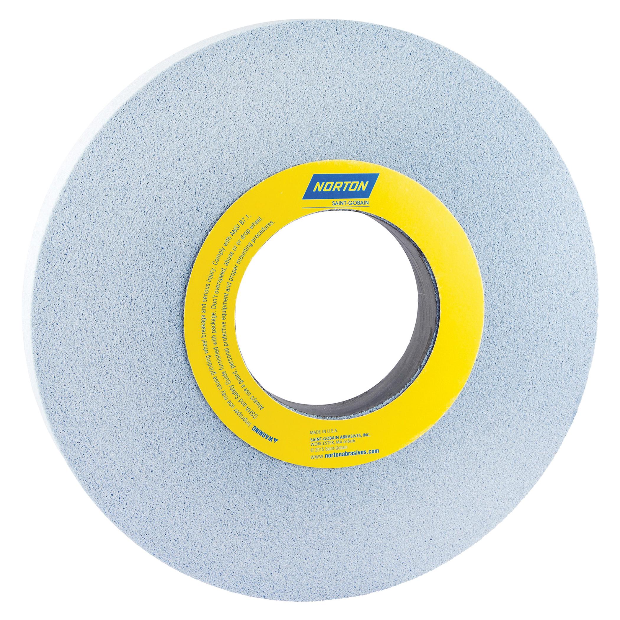 Norton® 66253363871 5SG Straight Toolroom Wheel, 14 in Dia x 1 in THK, 5 in Center Hole, 60 Grit, Ceramic Alumina/Friable Aluminum Oxide Abrasive