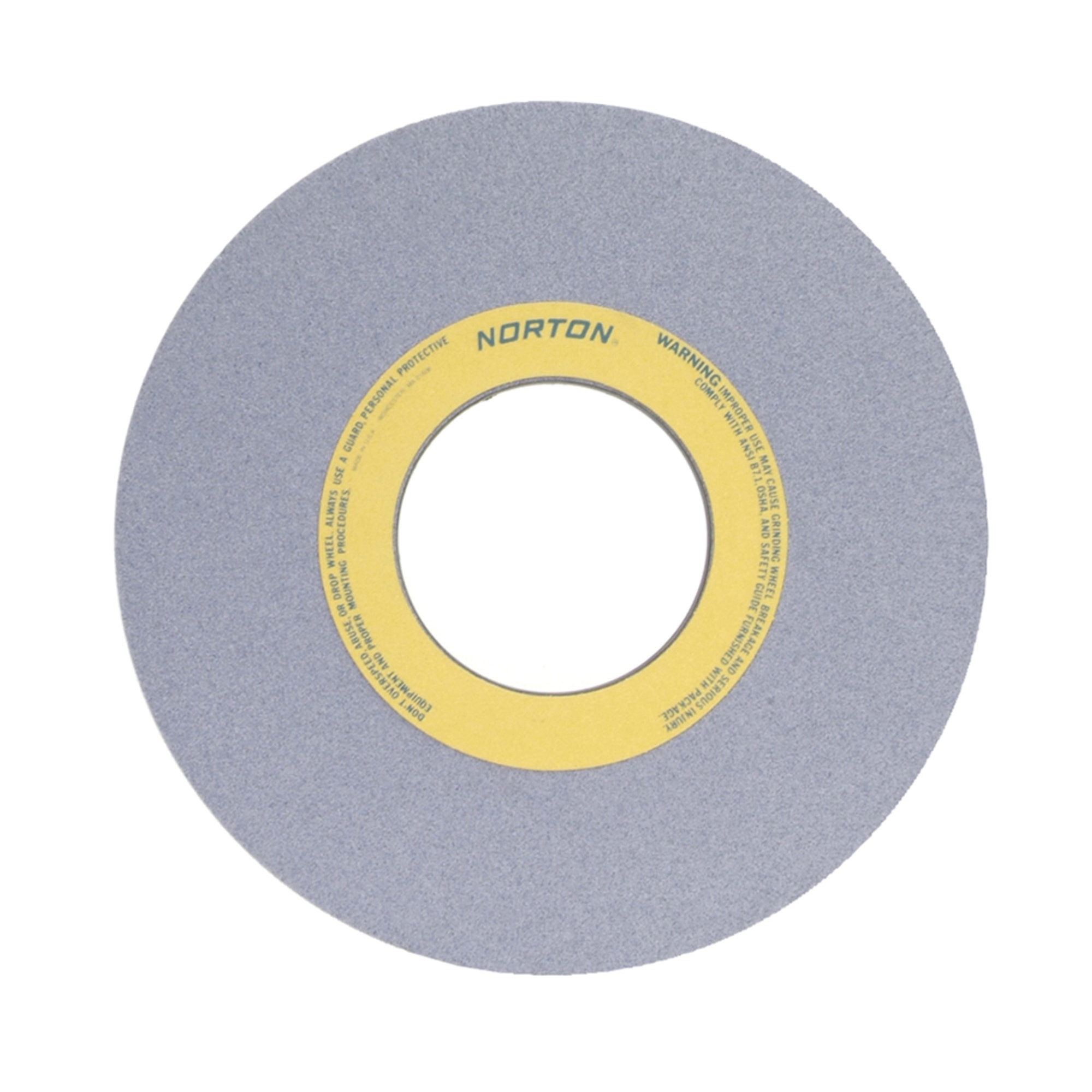 Norton® 66253364039 32A Straight Toolroom Wheel, 14 in Dia x 1 in THK, 5 in Center Hole, 80 Grit, Aluminum Oxide Abrasive