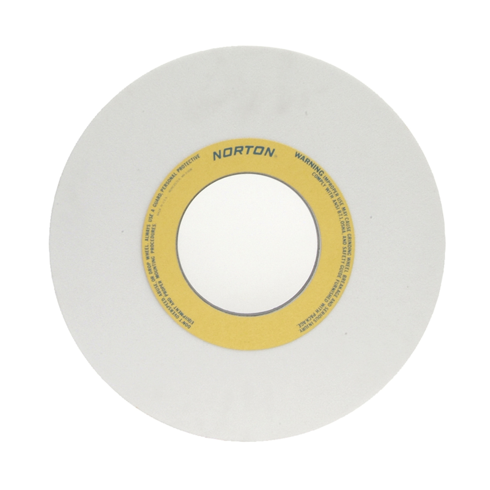 Norton® 66253364053 38A Straight Toolroom Wheel, 14 in Dia x 1 in THK, 5 in Center Hole, 60 Grit, Aluminum Oxide Abrasive